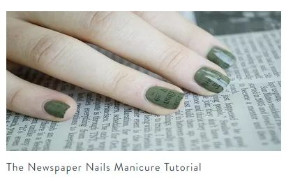 Newspaper Nail Art Is Adorable Customize Your Design To Complete Inner Zest As You Wish This Fulfills The Initial Quest Achieve