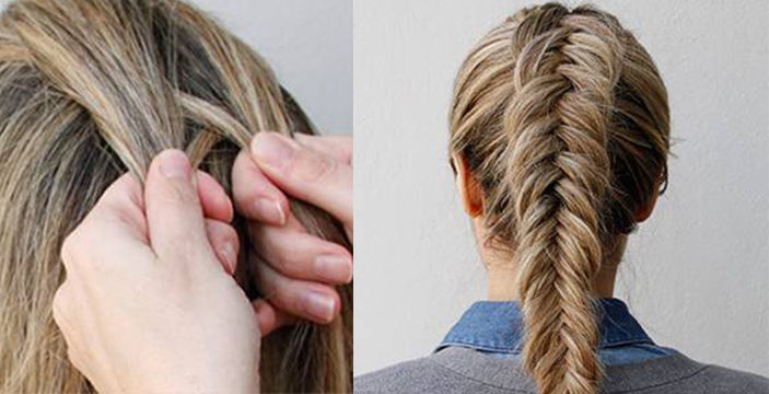 How To Tie An Inverted Fishtail Braid