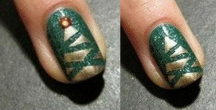 Trim The Tree Nail Art