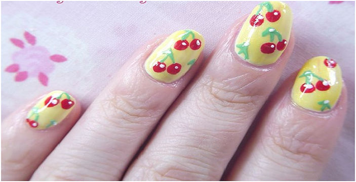 - Pretty Cherry Nail Art