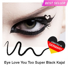 Buy Stay Quirky Kajal, Super Black, Eye Love You Too (0.35 g)