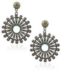 Crunchy Fashion Bollywood Style Party Wear Bohemian Orange Beaded Tassel Earrings for Women /& Girls