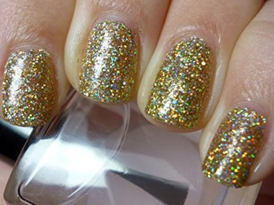 Nail Art With Golden Be A Rebel