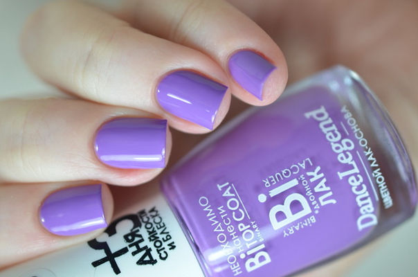 Nail Art With Purple Nail Swag