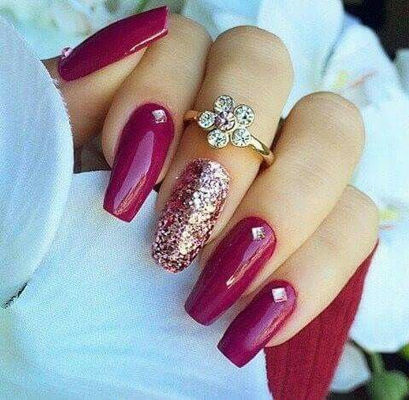Nail Art With Maroon No Restriction