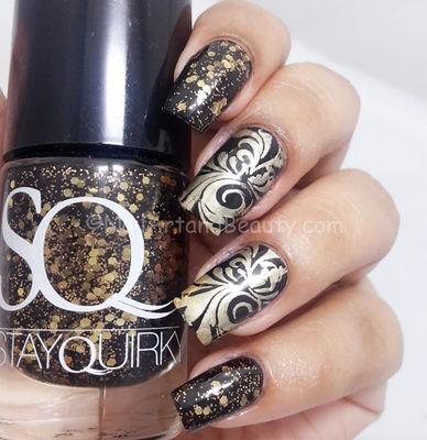Nail Art With  Black Sane No More