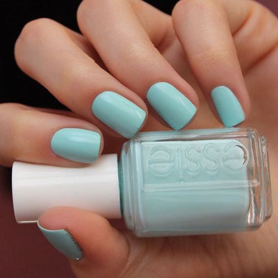 Nail Art With  Blue Cerulean