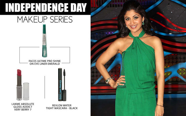 Independence Day Makeup Series - Shilpa Shetty