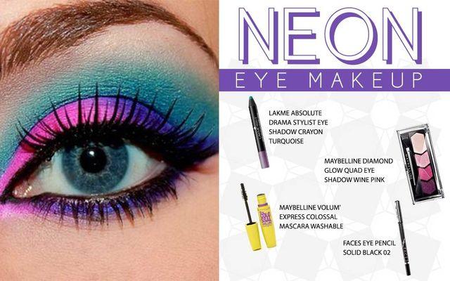 Neon Eye Makeup