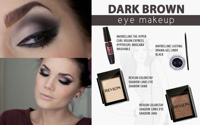 Dark Brown Eye Makeup