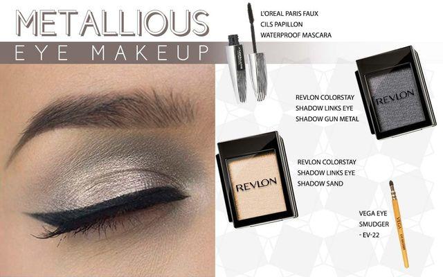 Metallious Eye Makeup