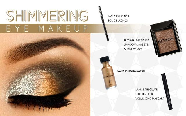 Shimmering Eye Make Up