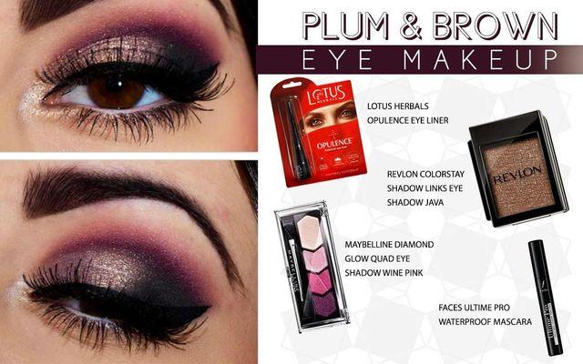 Plum Brown Eye Makeup