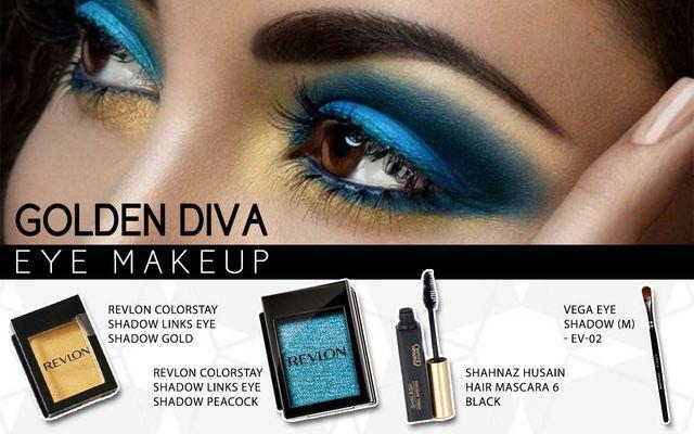 Golden Diva Eye Makeup