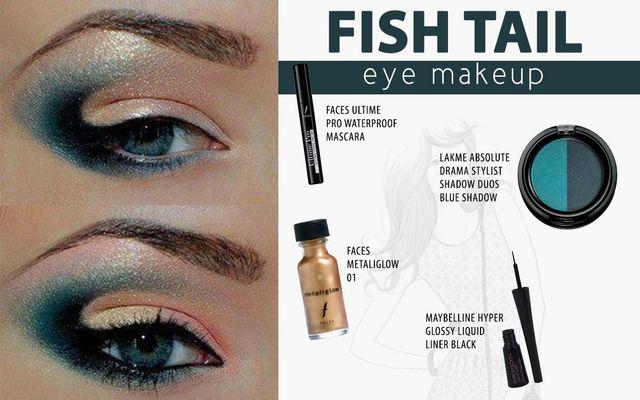 Fish Tail Eye Makeup