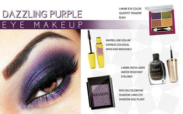 Dazzling Purple Eye Makeup