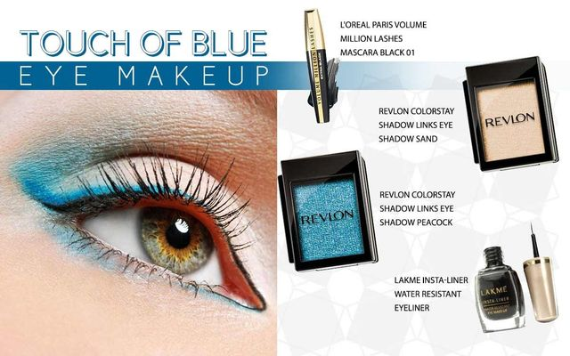 Touch Of Blue Eye Makeup
