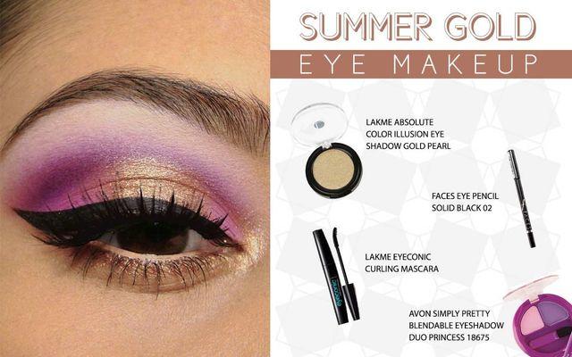 Summer Gold Eye Make Up