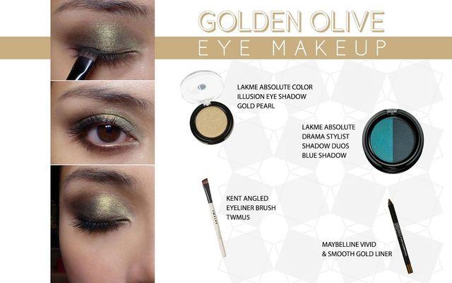 Golden Olive Eye Make Up