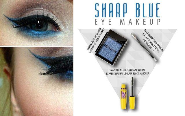 Sharp Blue Eye Make Up