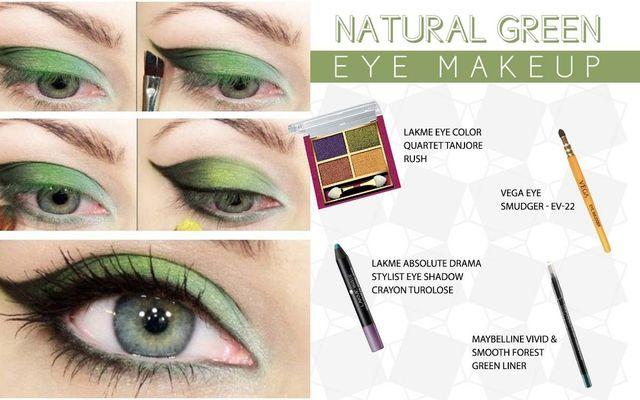 Natural Green Eye Make Up