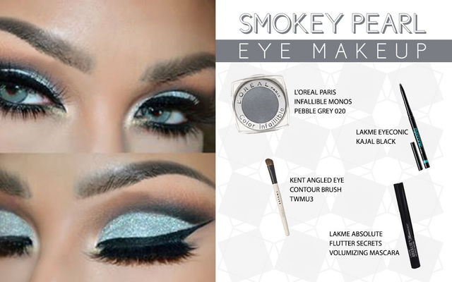 Smokey Pearl Eye Make Up