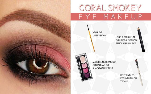 Coral Smokey Eye Make Up