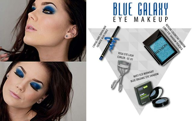Blue Galaxy Eye MAkeup