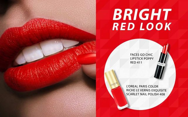 Bright Red Look