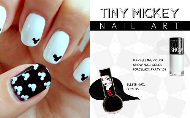 Tiny Mickey Nail Art