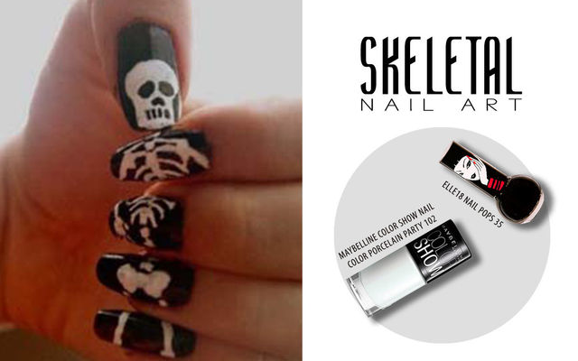 Skeletal Nail Art