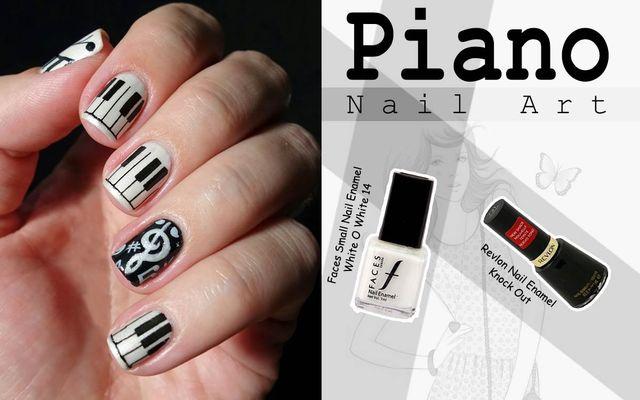 Piano Nail Art