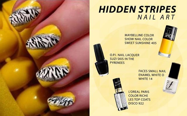 Hidden Stripes Nail Art