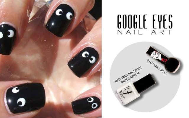 Google Eyes Nail Art