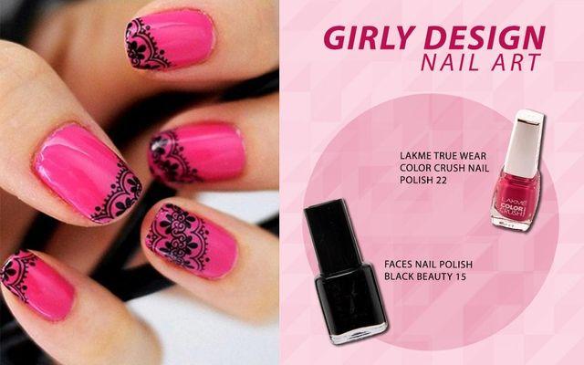 Girly Design Nail Art