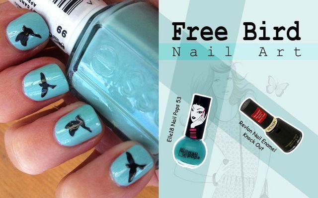 Free Bird Nail Art