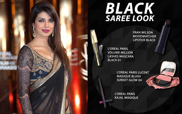Black Saree Look