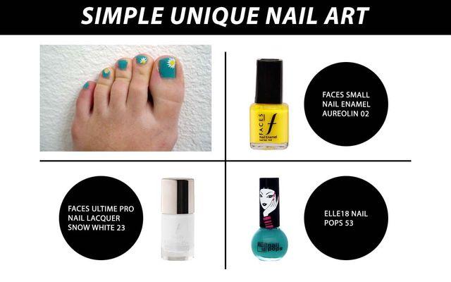 Simple Unique Nail Art