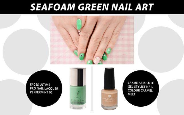 Seafoam Green Nail Art