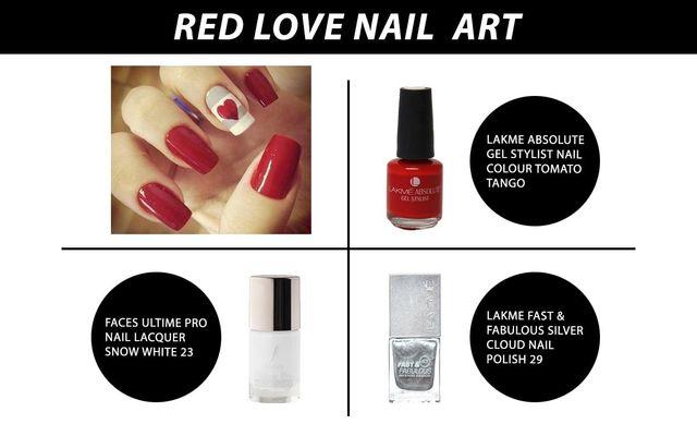 Red Love Nail Art