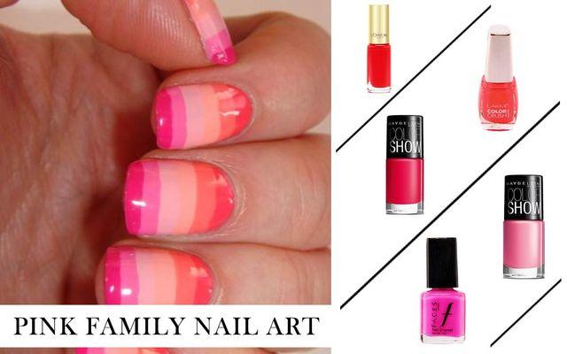 Pink Family Nail Art