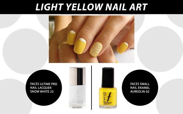 Loght Yellow Nail Art