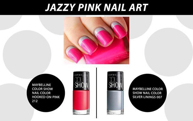 Jazzy Pink Nail Art