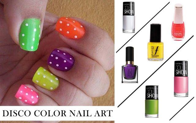Disco Color Nail Art