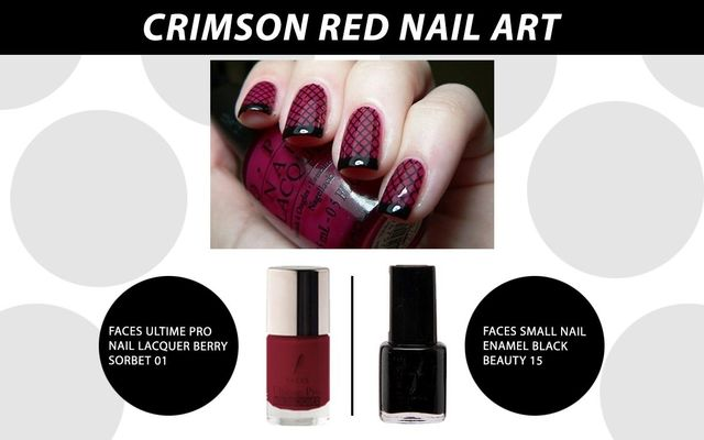 Crimson Red Nail Art