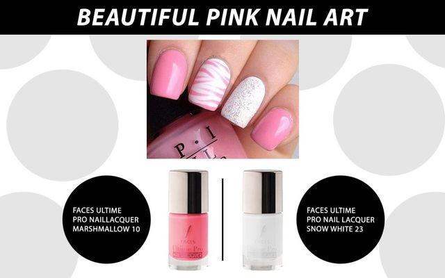 Beautiful Pink Nail Art