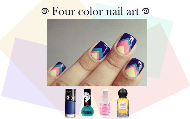 Four Color Nail Art