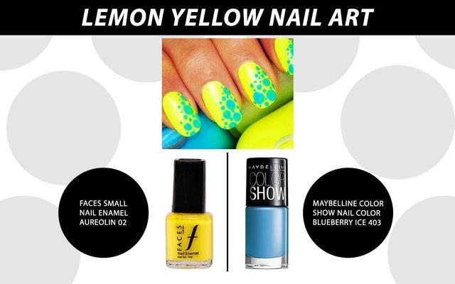 Lemon Yellow Nail Art