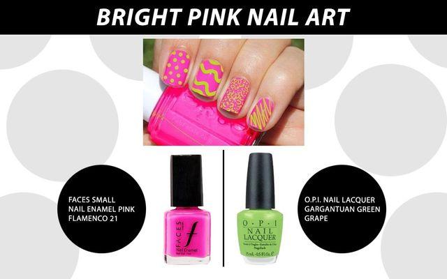 Bright Pink Nail Art
