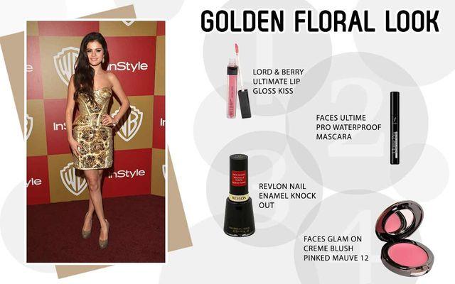 Golden Floral Look